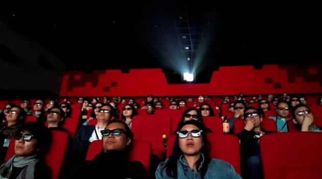 People watch a movie at a cinema in Wanda Group's Oriental Movie Metropolis ahead of its opening, in Qingdao, Shandong province, China April 27, 2018.(Reuters file photo)